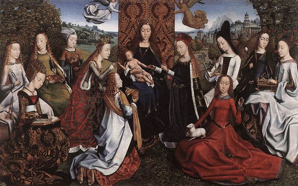Virgin Surrounded by Female Saints by MASTER of the Legend