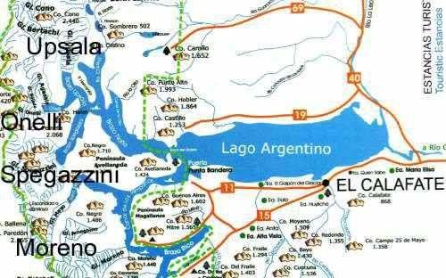 carte glaciers