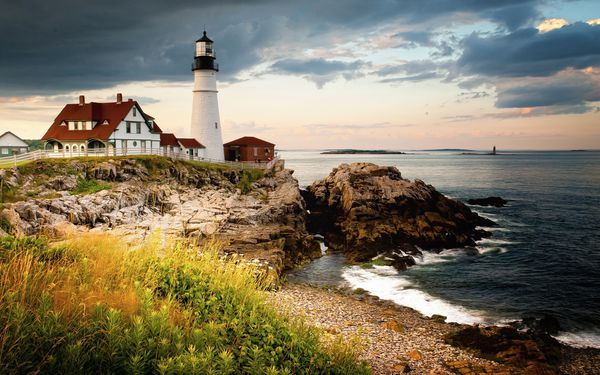 fond ecranPortland-Head-Light-Cape-Elizabeth-lighthouse-gul