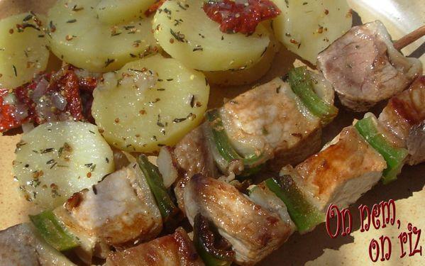 Salade de pommes de terre aux tomates séchées4