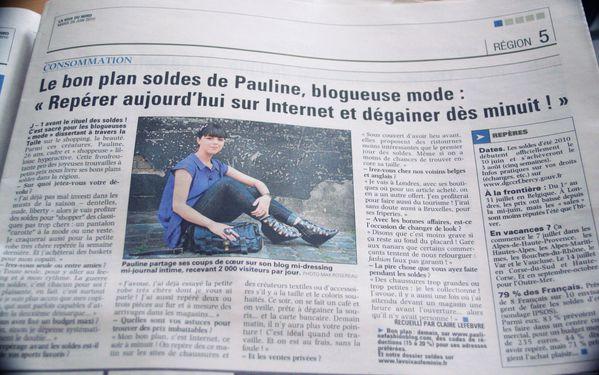 La voix du nord Pauline fashionblog.JPG effected
