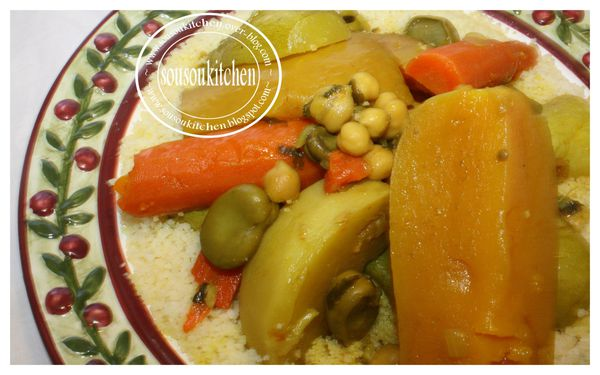 Couscous au boeuf (en video) كسكس بلحم البقر