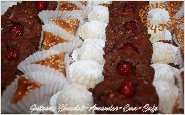 Gateaux Chocolat-Amandes-Coco-Café