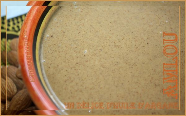 AMLOU : Pte  tartiner  base d'huile d'argan