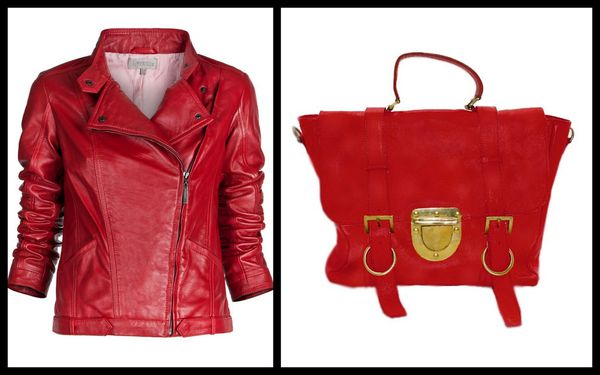 Perfecto cuir rouge Uterque - sac cuir rouge Old Skool Su-s
