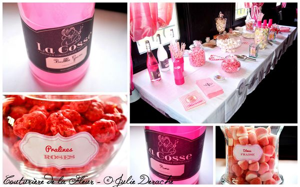 Mariage Marquise - Mariage Plume Rose et Blanc - Candy Bar4
