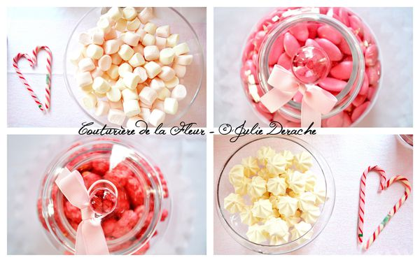 Mariage Marquise - Mariage Plume Rose et Blanc - Candy Bar6