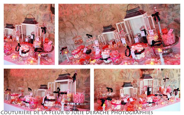Candy Bar Boudoir Rose et Noir (12)