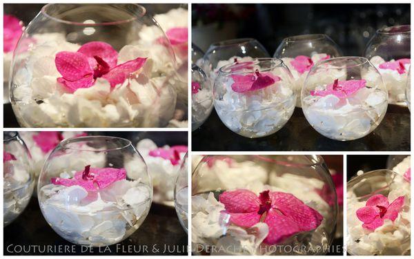 Mariage So Chic au Cygory  Blanc & Rose Fuchsia  Fleuriste Mariage ...