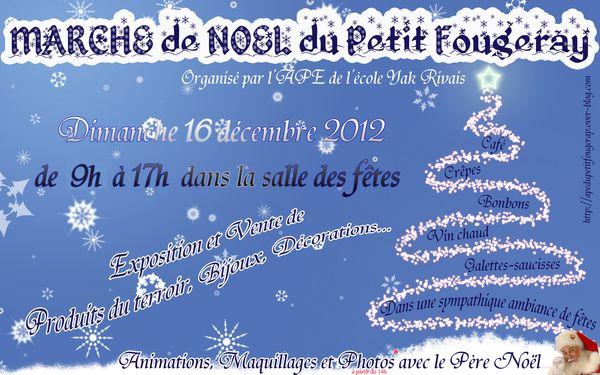 affiche marché de noel 2012