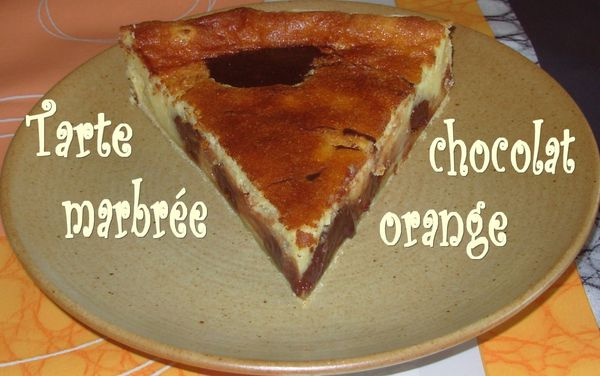 Tarte marbrée choco-orange3