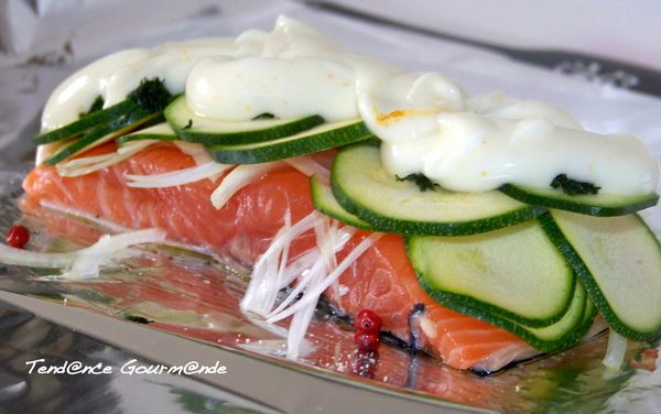 papillote saumon courgette aneth
