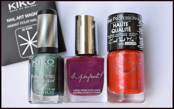 Vernis Kiko magnetique, Agnès b et Miss Europe