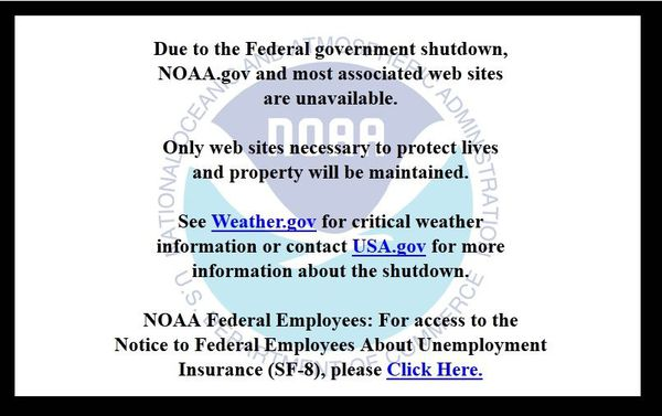 Federal Government Shudown - NOAA - Octobre 2013
