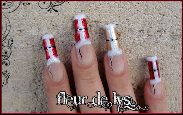 Nail art p re no l nail art fleur for Dessin ongle facile a faire