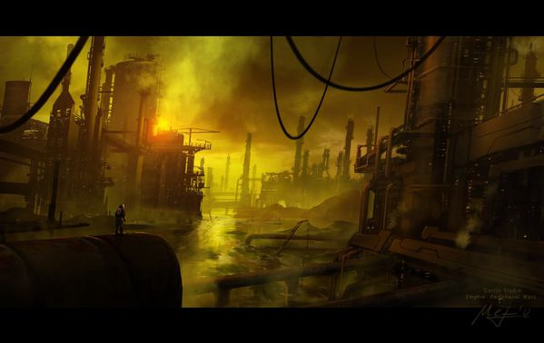 polluted planet by m3 f-d5lck54