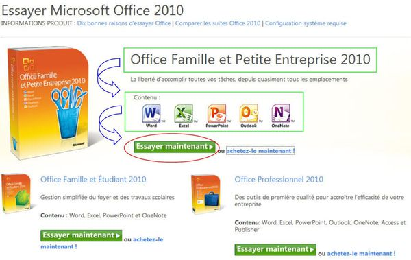 t l charger microsoft office famille et petite entreprise 2010. Black Bedroom Furniture Sets. Home Design Ideas