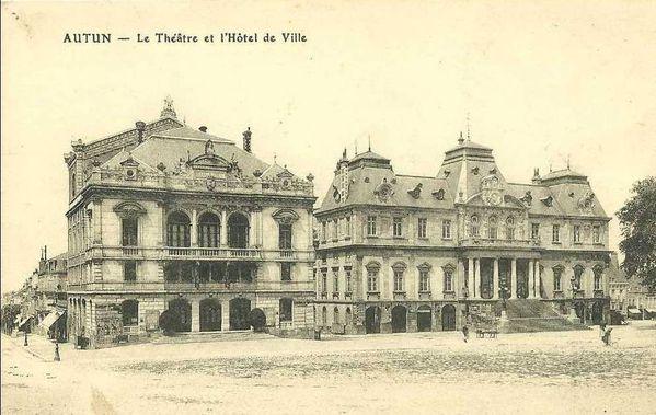 AUTUN 19e - Théâtre et Mairie