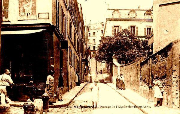 Rue André Antoine-Coin de la rue Véron