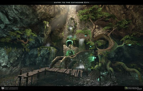 Entry to the Catacomb City by natetheartist