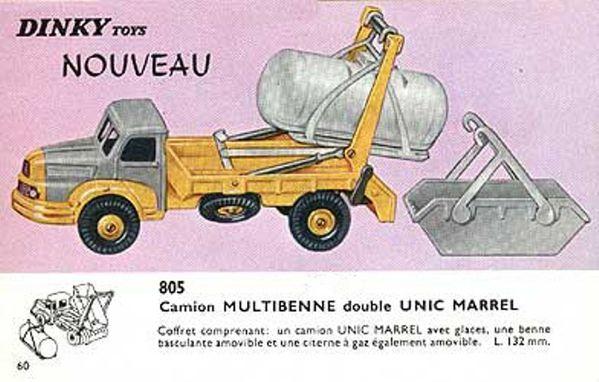 catalogue dinky toys 1966 p60 camion multibenne double uni