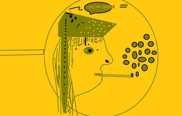 les bulles vertes et jaunes