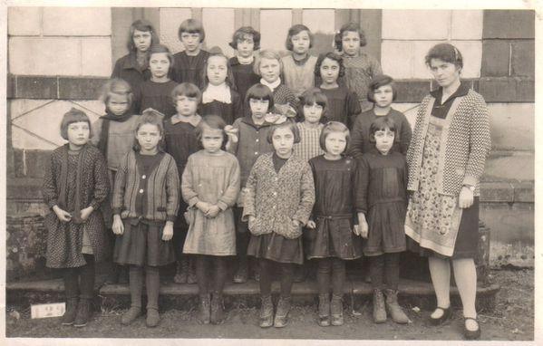classe de Marie Malbanc vers 1927