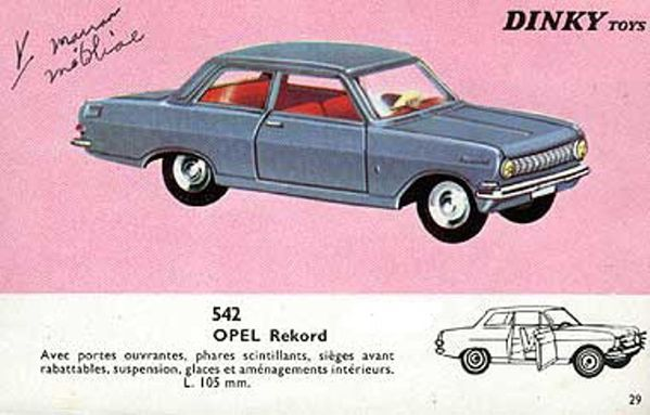 catalogue dinky toys 1966 p29 opel rekord