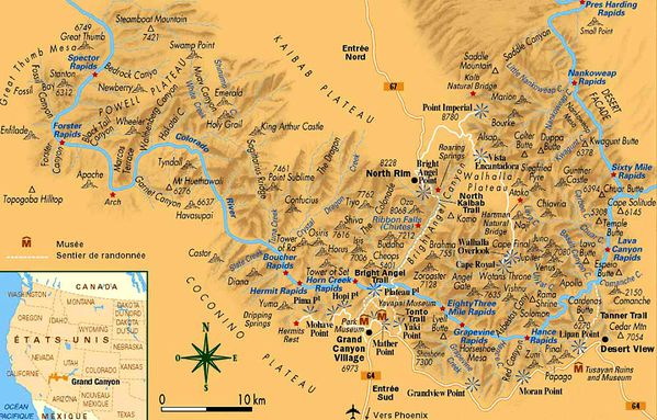 Carte du Grand Canyon