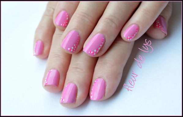 nail art facile ( ongles courts ) - nail art fleur