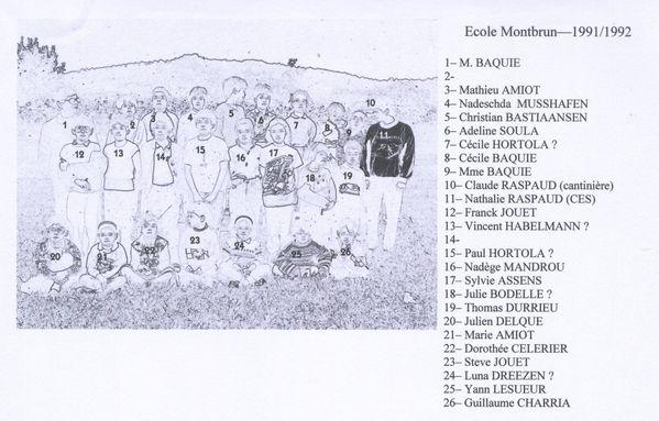 1991-1992 nom m. mme. baquie