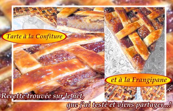 TARTE À LA CONFITURE ET FRANGIPANE 1