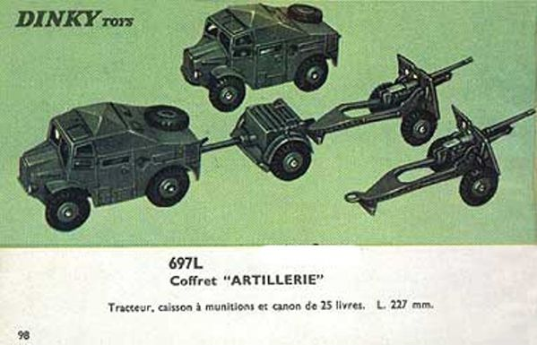 catalogue dinky toys 1966 p98 coffret artillerie dinky toys