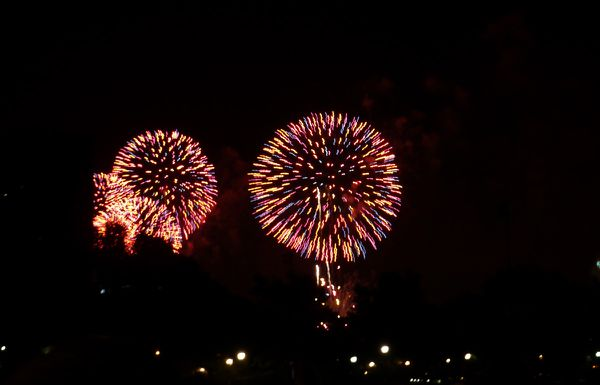 4th of Juky Fireworks 031 red
