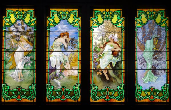 Chicago Stained Glass Museum 5 Les 4 saisons