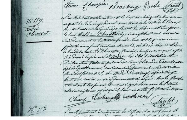N.CHARVET André 1831