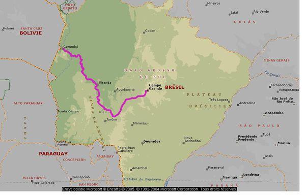 Bresil Pantanal Carte CampoCorumba