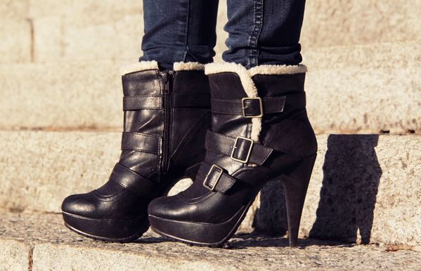shearling boots new look
