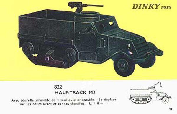 catalogue dinky toys 1966 p91 half track m3 engin militaire