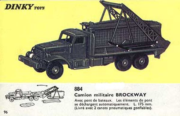 catalogue dinky toys 1966 p96 camion militaire brockway