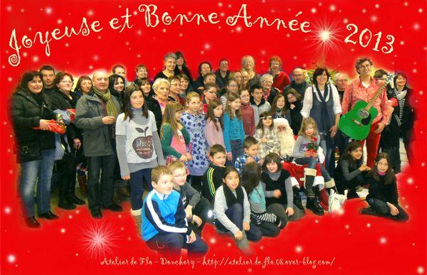 Noël 2012 Atelier deFlo Donchery Peinture Bonne année