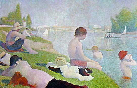 Seurat Bains Bathing at Asnieres