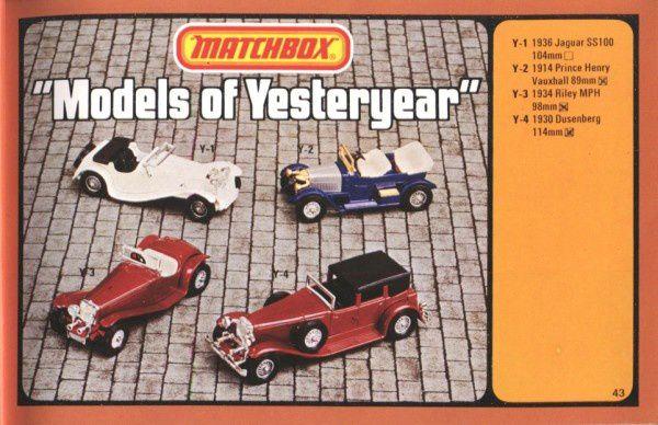 catalogue matchbox 1977 p43 jaguar ss100