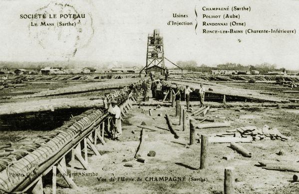 L'usine de Champagné dans la Sarthe