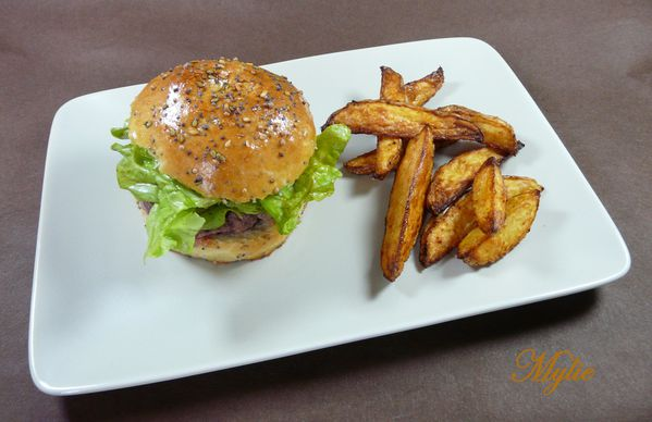 burger surprise, potatoes de patate douce 1