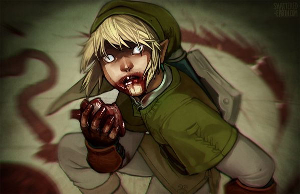 link needs hearts happy halloween by shattered earth-d5jo