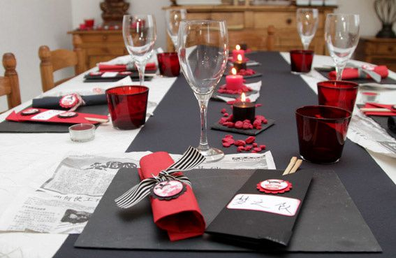 repas chinois la d co de la table en scrap 3 3 le blog de vanou. Black Bedroom Furniture Sets. Home Design Ideas