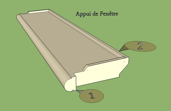 Rejingot fenetre pvc for Pose porte pvc en applique