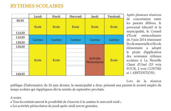 rythmes scolaires 2014