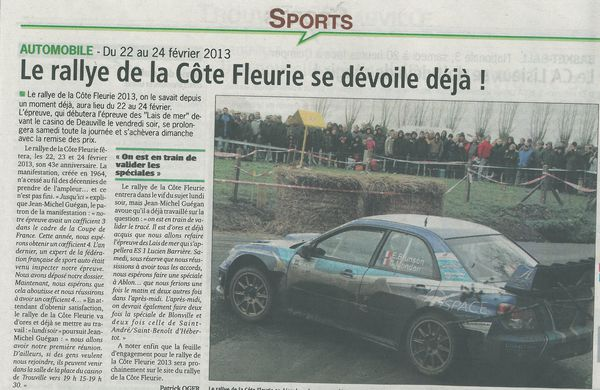 Coupure de presse journal pays d 39 auge du 12 octobre 2012 tac sport even - Le journal le pays d auge ...
